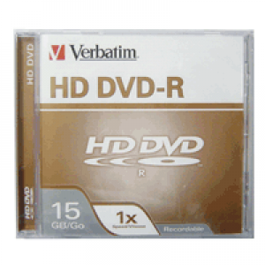 HD DVD-R Gravável Verbatim 15GB (1x)