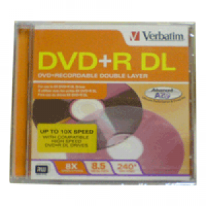 DVD+R Verbatim Lacrado 8.5 GB(10x) (Dual Layer)
