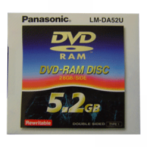 DVD-RAM Panasonic 5.2GB TYPE I (Cartucho Fixo)