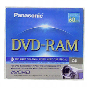 Mini DVD-RAM Panasonic Lacrado 2.8GB/60min (1x) - Double Sided (sem Holder)