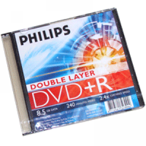 DVD+R Philips Lacrado c/ Logo 8.5GB(2.4x) (Dual Layer)